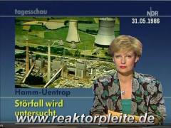 YouTube Video (ARD, 31.05. bis 02. Juni 1986, 00:08:09) Der Störfall am THTR in der Tagesschau - https://www.youtube.com/watch?v=MqjcTy9wyL4