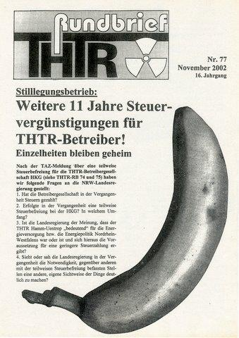 THTR Rundbrief Nr. 77 vom November 2002